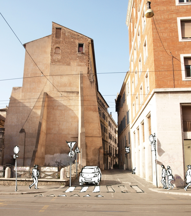 roma skizze mit anschnitt